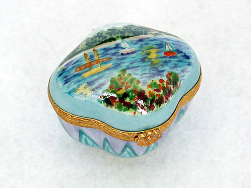 "MONET ""SAILBOATS"" LIMOGES BOX"