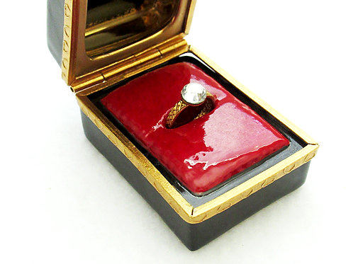 Hand painted limoges ring box