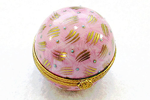 Limoges porcelain hand painted sphere hinged box