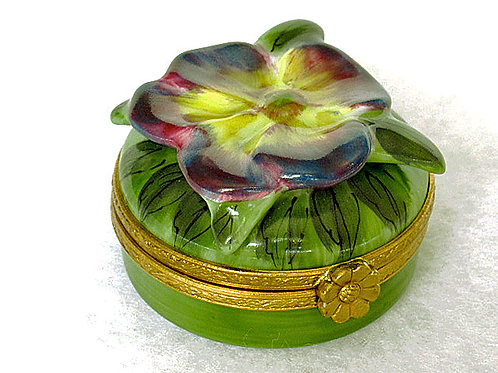 Limoges collectible pansy box