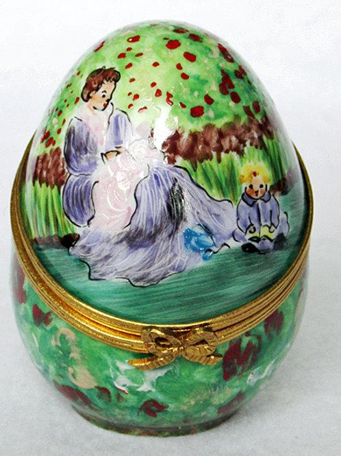 Limoges Monet porcelain egg