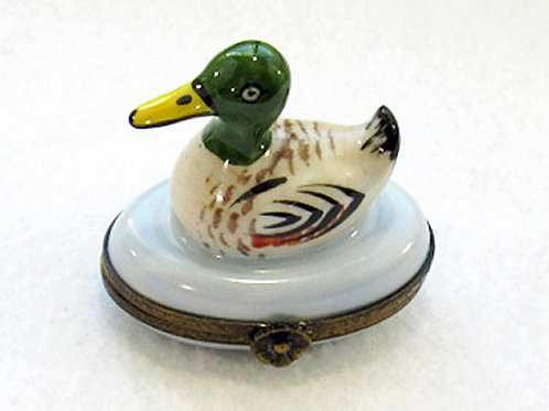 Limoges hand painted Duck box