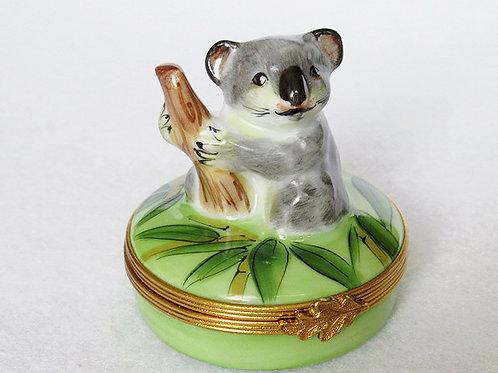 Limoges porcelain koala bear collectible box