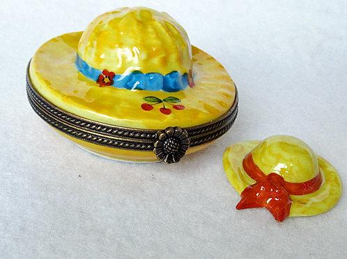 limoges porcelain hat box
