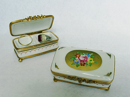 Limoges double well ring box