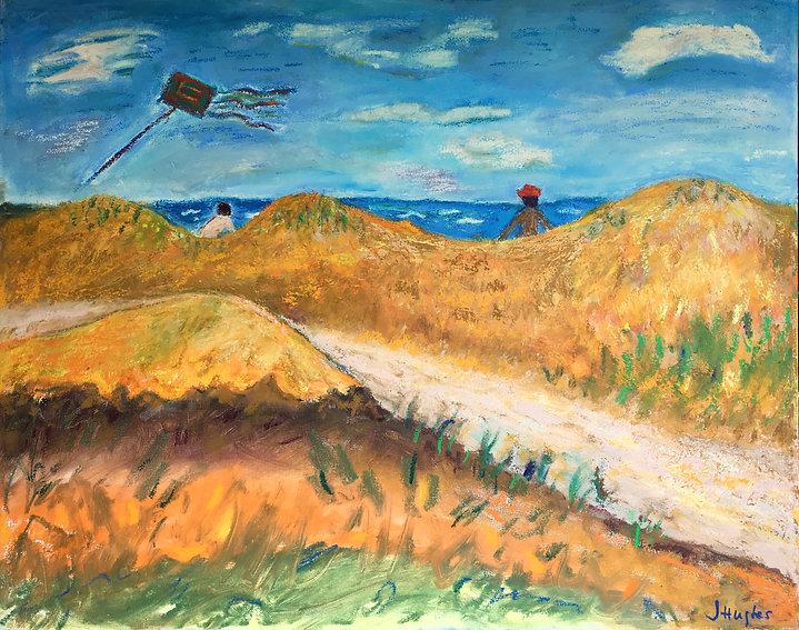 oil paint stick landscape on canvas