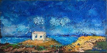 oil pastel, oil paint stick on canvas