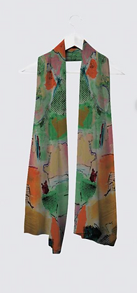 Art clothing - light and fun scarf