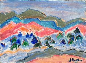 Landscape in oil pastels