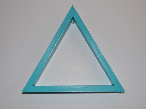 Teal Triangle Shelf