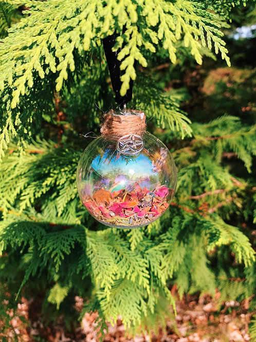 Witch's Yule Ball Ornament