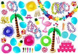goodies plage, goodies tropical, decoration soiree plage, decoration soiree tropical