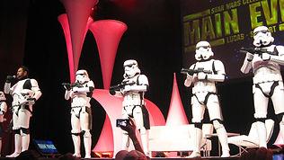 Animation acteurs STAR WARS pour evenement