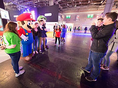 Mascotte Mario & Luigi, mascotte mario, mascotte luigi