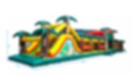 Location parcours gonflable jungle