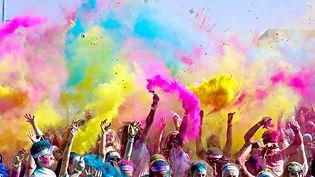 Poudre de couleur holi pour evenement etudiant
