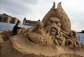 sculpture sur sable pour evenement et soiree