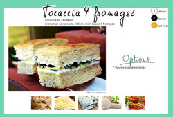 """Formule """"Focaccia 4 fromages"""""""