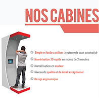 cabine impression 3D humaine