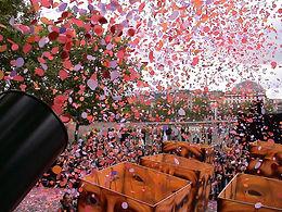 Effet pluie de confettis pour soiree et evenement