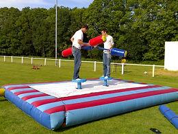 Location gladiateurs perchés gonflable pour evenement