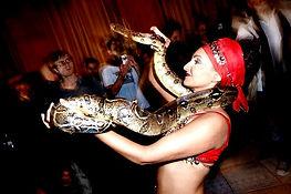Charmeuse de serpent pour soiree