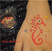 animation tatouages éphémères bonbons