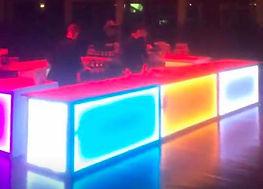 location bar lumineux electrique, location mobilier lumineux electrique