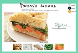 "Formule ""Focaccia saumon"""