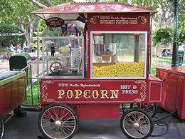 animation stand a pop corn evenement, chariot pop corn evenement
