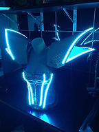 Robot LED femme, robot led feminin