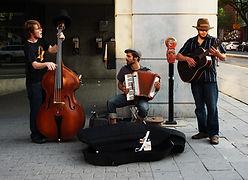 Musiciens de rue pour soiree