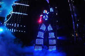 Robot à LED pour soiree