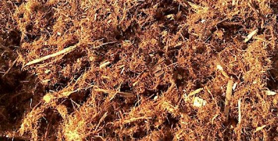 Mulch in red color per pack/cubical yard