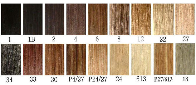 different colros for custom lace wigs