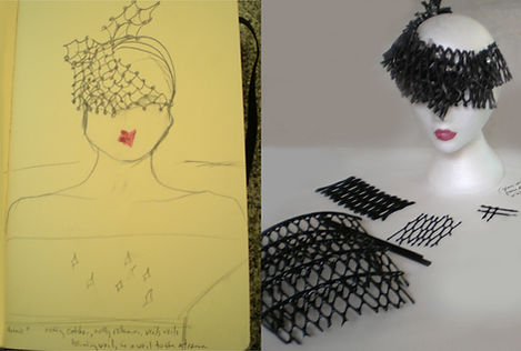Early sketches and mock-ups for 'The Fascinator' while I was in residence at Pilchuck (Image: Lisa Naas)