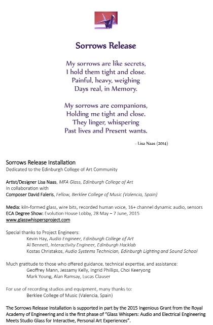 Sorrows Release Program Notes