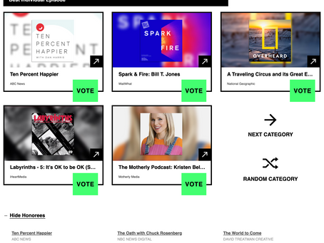 World to Come Podcast Receives Honorable Mention at Webby Awards