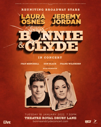 Laura Osnes and Jeremy Jordan Reuniting for BONNIE AND CLYDE IN CONCERT