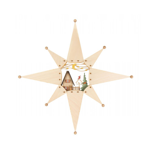 "Craft - Window Star to Build - Partially Painted 14.6""H"