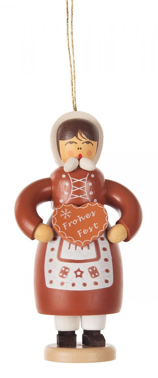 "Ornament - Gingerbread Lady - 3.1""H"