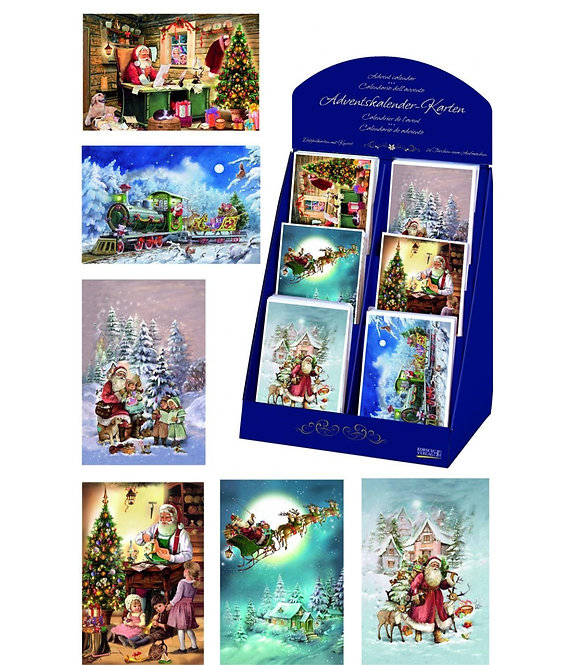 "Individual Advent Calendar Cards (assorted designs) 4.5""x7"""