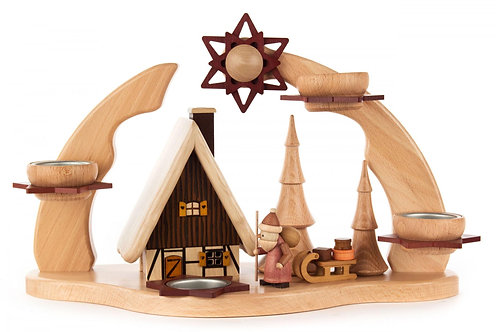 """Candle Arch Smoker House (holds tea lights) 8.7""""H"""