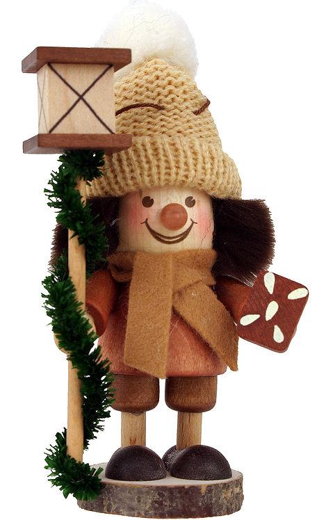 "Ornament - Gingerbread Boy - Natural 5""H"