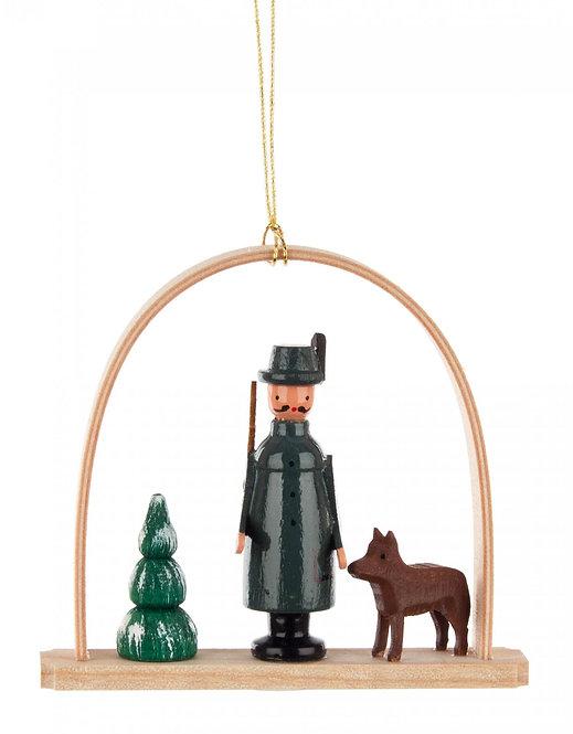 "Ornament - Hunter under arch - 2.8""H"