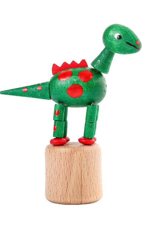 "Toy - Dinosaur push toy - Green 3.5""H"