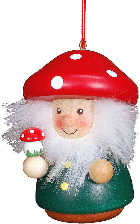 "Ornament - Mushroom Man - Painted 3""H"