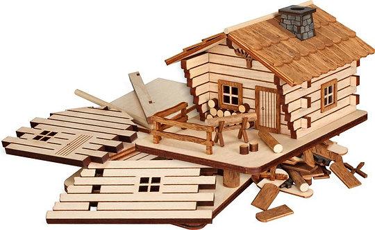 "Craft - Smoker Log House to build - Natural 3.5""H"