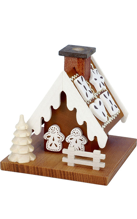 "Smoker - Gingerbread House - Natural 3.5""H"
