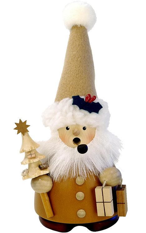 """Smoker - Santa (holding tree and gifts) - Natural 7.5""""H"""